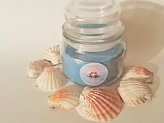 Blueberry Cobbler soy candle in apothecary jar. Gives by ShellSoy