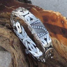 The Great Gatsby Sterling Silver Men's Bracelet Wholesale Silver Jewelry, Silver Man, Sterling Silver Bracelets, Silver Earrings, Onyx Necklace, Garnet Necklace, Necklace Types, Bracelets For Men, Bracelet Men
