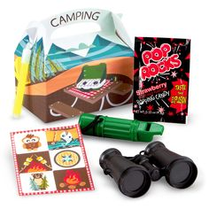 Let's Go Camping Party Favor Box ideas.