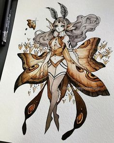 Margaret Morales is a visual designer, painter and watercolor artist from Philippines. Fairy Drawings, Cute Drawings, Inspiration Art, Art Inspo, Pretty Art, Cute Art, Arte Sketchbook, Witch Art, Watercolor Artists