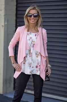 New blog story featuring our Pink Cascading Cardigan, Floral print off the shoulder top and Vintage inspired necklace all available in our shop www.jacketsociety.com
