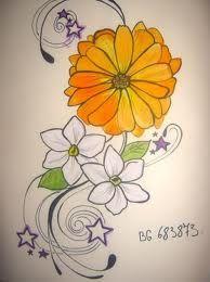 marigold tattoo on pinterest aster tattoo aster flower tattoos and narcissus flower tattoos. Black Bedroom Furniture Sets. Home Design Ideas