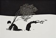 Black and White Illustration by Kim Daehyun