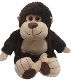 "Singing 16"" plush Monkey which plays custom music featuring your child's name."