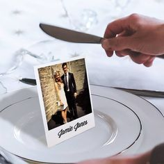 Personalised Stand Up Place Setting Photo Cards