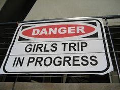 girls trip!! Watch out .. Our girls trip is booked!!!  Can't wait!!! Girlfriends Getaway, Girls Getaway, Girls Weekend Quotes, Girl Trip Quotes, Danger Girl, Danger Danger, No Boys Allowed, Girls Vacation, Girls Time