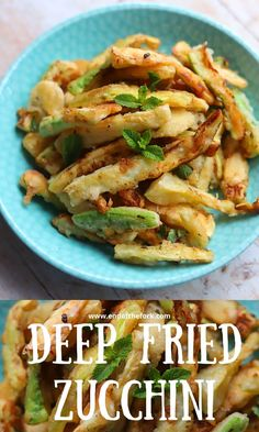 These tender zucchini fries in crispy batter served with lemon and mint make a tasty and refreshing appetizer or summer side. With instructions to lightly fry or prepare them using an air fryer. #zucchini #Italian #courgettes #friedvegetables #friedappetizer #summerside #cookout Zucchini Vegetable, Vegetable Recipes, Finger Food Appetizers, Appetizer Recipes, Finger Foods, Best Dinner Party Recipes, Summer Recipes, Easy Delicious Recipes, Tasty