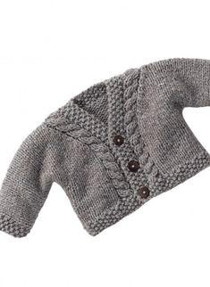 cardigan bimbi con trecce - spiegazioni - la maglia di marica