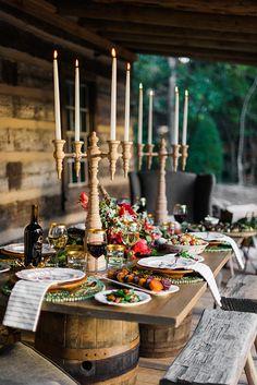 A Winter Wonderland tablescape, Waiting on Martha