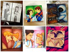custom disney canvas: set of two -made to order- on Etsy, $20.00
