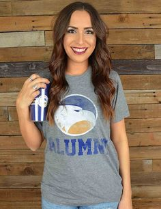 Basic is sometimes best And this basic GSU navy T-shirt is perfect for any EAGLE ALUMNI