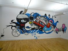 Toronto office mural by Illustrator Chairman Ting by Rethink Communications, via Flickr