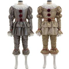 68e3c131917 Stephen King It Pennywise Cosplay Halloween The Clown Party Costume Fancy  Dress