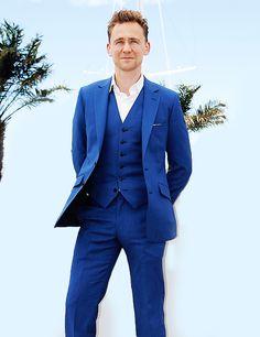 Bright Blue Three Piece Suit Dress Yy