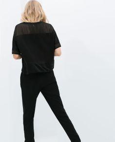 Imagem 5 de T-SHIRT FAIXAS TULE da Zara