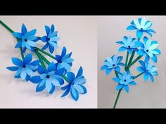 How to Make Very Beautiful Paper Stick Flower Stick Flower Handcraft J. Paper Origami Flowers, Tissue Paper Flowers, Paper Crafts Origami, Handmade Flowers, Diy Flowers, Tissue Paper Decorations, Pinterest Instagram, Paper Flower Tutorial, Flower Template