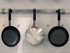 Tramontina's new line of Fusion pans ($29.95-$69.95) are rivetless on the inside, for easy cleaning! #ihhs13 #tramontina #cookware