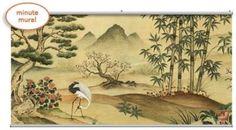 Oriental Landscape Minute Mural