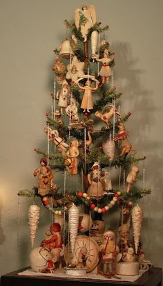 Shabby in love: Christmas tree decorating ideas
