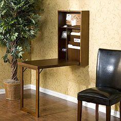 Walnut Alden Foldout Convertible Desk  $229.99