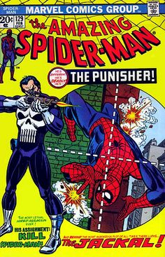 The Punisher debuted in The Amazing Spider-Man Vol. 1 #129 (February, 1974); art by Gil Kane and John Romita, Sr.