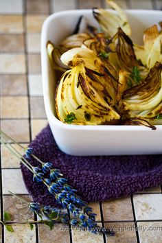 lavender roasted onions