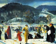 George Wesley Bellows, Love of Winter (1914). Courtesy of Art Institute of Chicago.