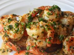 Garlic shrimp. I could eat a whole bowl of this!