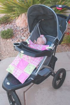 stroller blanket- I would make the blanket bigger to tuck around baby. (Need to make before Septembers ALS walk.)