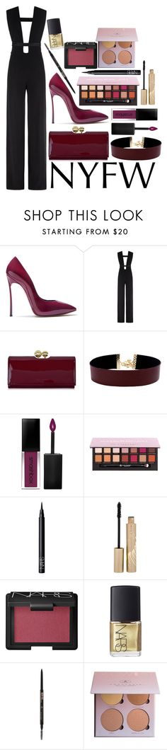 """NYFW"" by ethenknowsfashion on Polyvore featuring Casadei, La Mania, Ted Baker, Vanessa Mooney, Smashbox, Anastasia Beverly Hills, NARS Cosmetics, Stila, NYFW and makeup"
