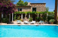 in Pollensa, ES. This beautiful villa keeps all its mallorquin charm and has wonderful views because of its exceptional location.