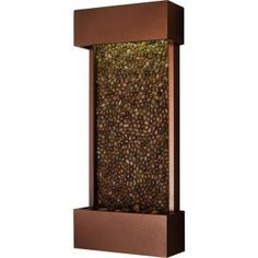 Water Wonders Waikiki Beach Wall Mounted fountain pebble panel with Copper Vein Powder Coated Frame
