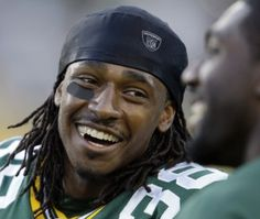 Tramon Williams - just look at that smile =) - from your friends at SwimSpot http://www.swimspot.com/Shop/Style-Bathing-Suit-Coverups.aspx #football #hot #tramonwilliams