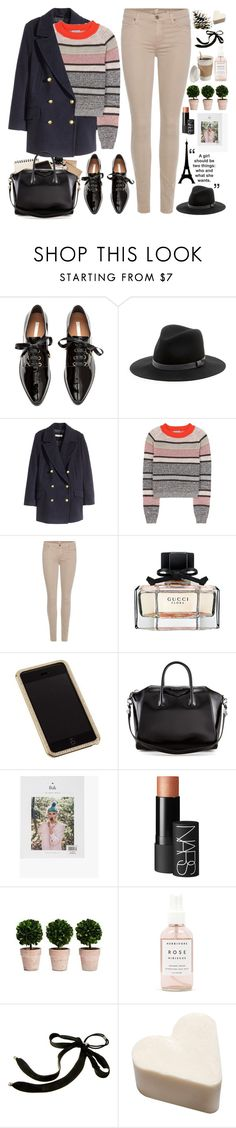 """2439. You've got a new story to write. And it looks nothing like your past."" by chocolatepumma ❤ liked on Polyvore featuring H&M, Sole Society, Bottega Veneta, 7 For All Mankind, Gucci, Swarovski, Givenchy, NARS Cosmetics, Herbivore and Colette Malouf"