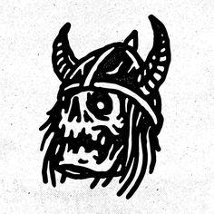 Berserker skull for Tattoo Sketches, Tattoo Drawings, Traditional Black Tattoo, Arte Dope, 1 Tattoo, Tattoo Flash Art, Skull Art, Black Tattoos, Dark Art