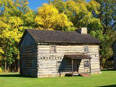 Old Bedford Village, a 1700s restored village with reenactors. Bedford, PA