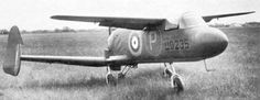 "First flight of the prototype and only copy of Miles M.35 ""Libellula"" serial UO235, a British aircraft for research on the wings in tandem."