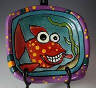Hand painted funky fish - Google Search