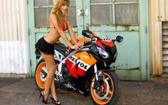 Honda CBR1000RR and Sexy Girl, Honda moto, Motorcycle, Sport motorcycle, Girl, Honda CBR1000RR, Girls and moto, wallpaper