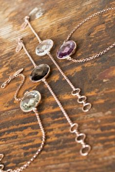 adorable gemstone bracelets...need them all...