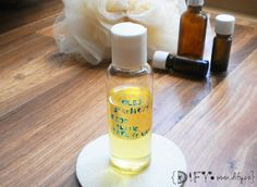DIY sprchový olej s ylang ylang Hair Beauty, Soap, Personal Care, Homemade, Bottle, Blog, Diy, Do It Yourself, Self Care