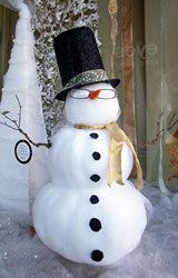 Snowman window display for Eyes Optometry 2007 holiday window display.