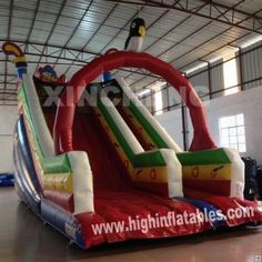 Inflatable western slide,XS82, size:4x8x6m