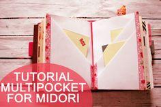 Lucy wonderland: TUTORIAL multipocket for midori travelers notebook