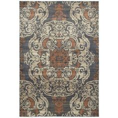 Shop for Overscale Medallion Blue/Rust Polypropylene Area Rug (3'10 x 5'5). Get free shipping at Overstock.com - Your Online Home Decor Outlet Store! Get 5% in rewards with Club O! - 19751728