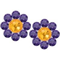 LSU game day post earrings at End Zone Apparel