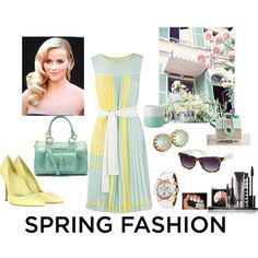 """Spring Pastel chiffon"" by liesel131180 on Polyvore"