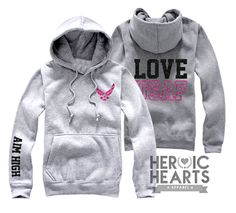 Love USAF Hoodie - Heroic Hearts Apparel Gonna have to order for this winter! Air Force Girlfriend, Military Girlfriend, Military Love, Coast Guard Girlfriend, Coast Guard Wife, Air Force Clothing, Air Force Love, Airforce Wife, Usmc