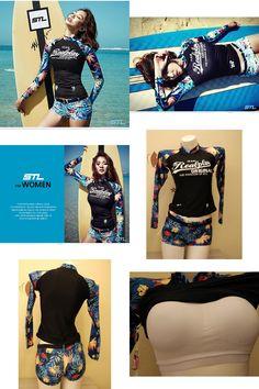 [Visit to Buy] Rash Guard Women Rashguard Swimming Suit For Swimsuit Woman Lycra Surf Swimwear Korean Long Sleeve Outdoor Sports Yoga Maillot #Advertisement