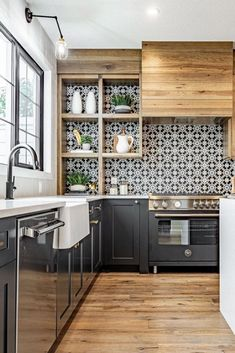 Kitchen Remodel TipsYou can find Sweet home and more on our website.Kitchen Remodel Tips Home Decor Kitchen, Interior Design Kitchen, Home Kitchens, Kitchen Dining, Room Kitchen, Kitchen Shelves, Island Kitchen, Kitchen Tile, Interior Modern